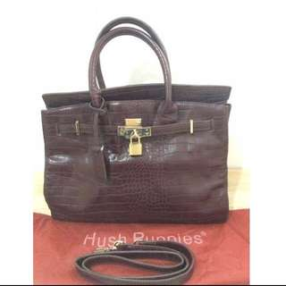 Hush Puppies Leather Bag Brown Redish