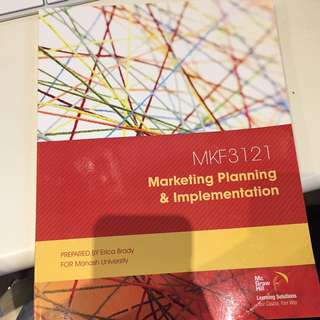 MKF3121 Marketing Planning & Implementation Prepared by Erica Brady for Monash University