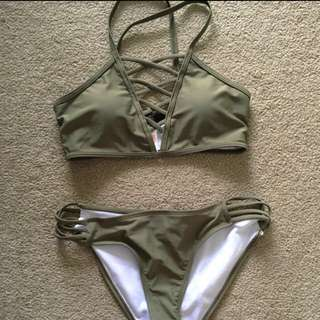 Two Piece Khaki Bikini