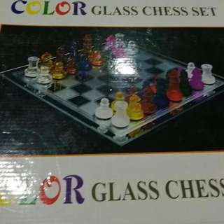 Colored Glass Chess Set