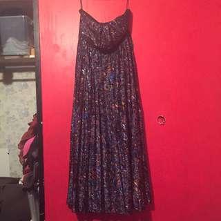 City chic Silk Maxi Dress
