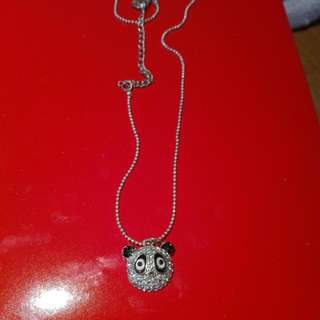 Sparkly Panda Necklace