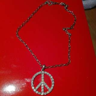 Sparkly Peace Necklace