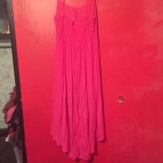Hot Pink High Low Dress
