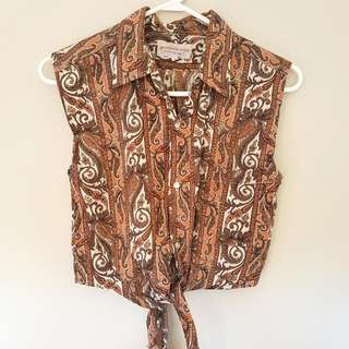 Vintage Crop Shirt