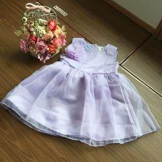薰衣草紫色禮服童裝