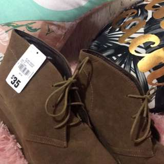 Light Brown Lace Up Boots