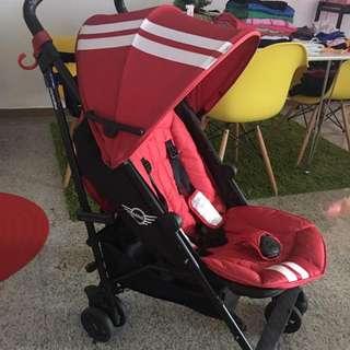Red Mini Cooper Stroller