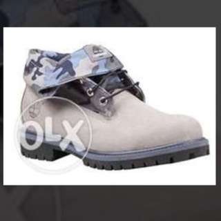 Timberland Roll Top Boots Grey/Camo