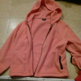 Warm Pink Hooded Jacket