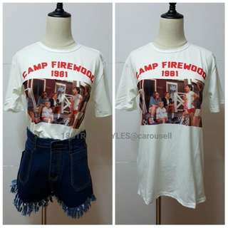[BN Instock] graphic tee / printed tshirt / oversized tee / loose t-shirt / tumblr tee/ vintage printed t-shirt