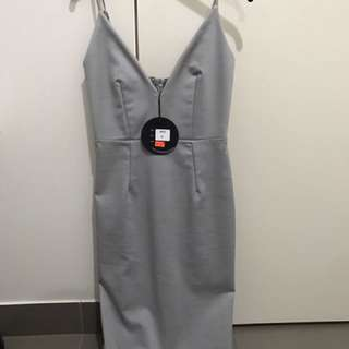 Grey Dress Luvalot Size 6
