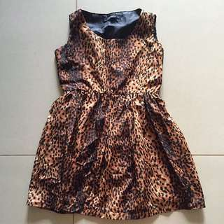 Leopard-printed Cocktail Dress