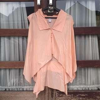 Peach Asymmetrical Shirt