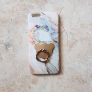 Marble Iphone 6/6s Case + Bear Iring
