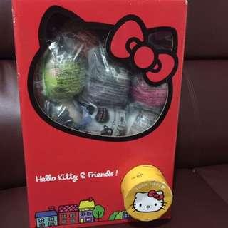 絕版 2007年麥當勞Hello Kitty & friends扭蛋機連14粒扭蛋公仔