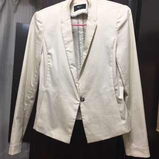 低價急售G2000鵝黃收腰西裝外套