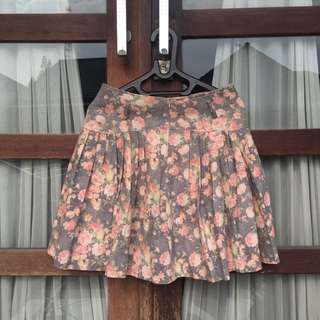 Floral Rample Skirt