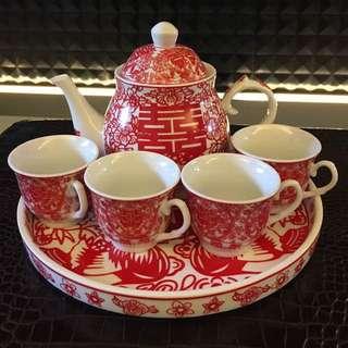 Wedding Tea Pot Set With Box