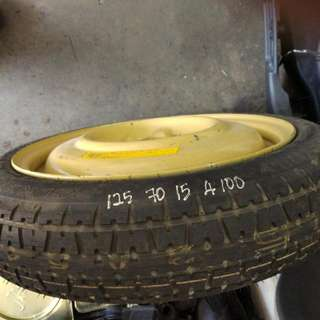 """Spare Tyre 15"""" Pcd 100 4 Hole"""