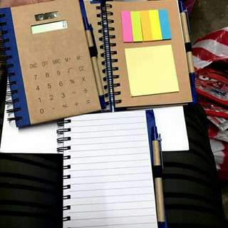 NOTEBOOK ORGANIZER With SOLAR CALCULATOT