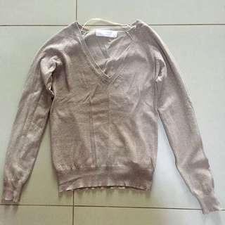 Zara Knitted Long-sleeved Blouse