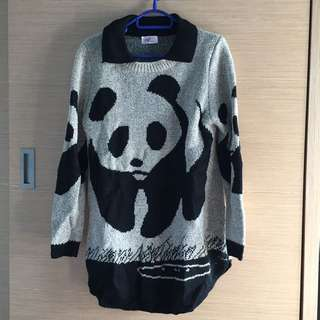 Eg熊貓毛衣長袖