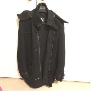 H&M Black Winter Duffle Coat