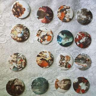 Pin Buttons (Personalized)