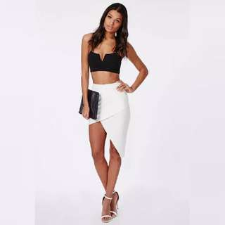 White ❤ Asymmetric Skirt