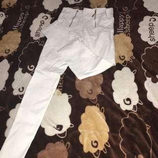 雙鏈條白色素褲❤️