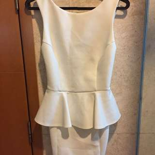 Topshop Petite White Dress