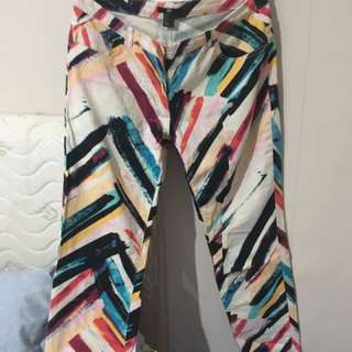 H&M Color Block Pants