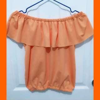 Orange Off Shoulder