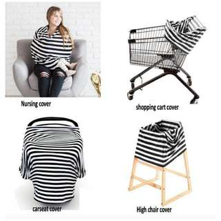 Multi-use Shopping Cart And Highchair Cover