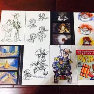 玩具總動員 明信片 名信片