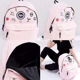 Hype bag Pink Backpack粉 刺繡 小馬 彩虹 多樣 繽紛 後背包