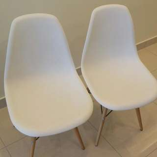 Free Two White Bucket Chairs