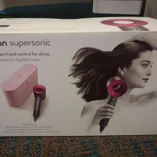 Brand New Dyson Supersonic Hair Dryer (2017 limited edition with pink carry case) 全新2017限量版dyson supersonic風筒