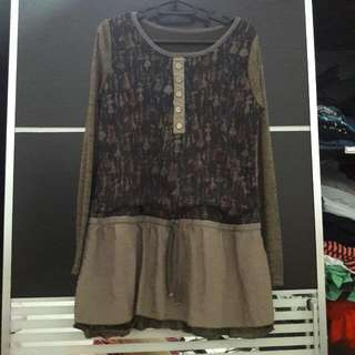 Brown Longsleeve Top