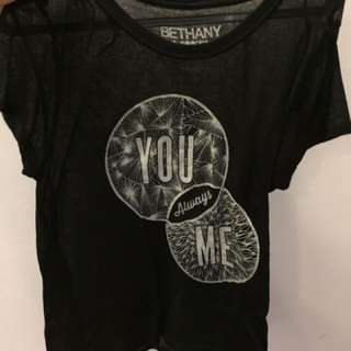 Bethany Mota Collection Black Top