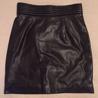 Bardot Leather Skirt Size 10