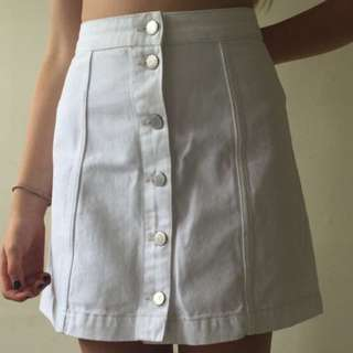 topshop white skirt