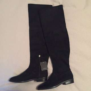 Zara Thigh High Suede Boots
