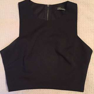 Black Crop Top Size 8