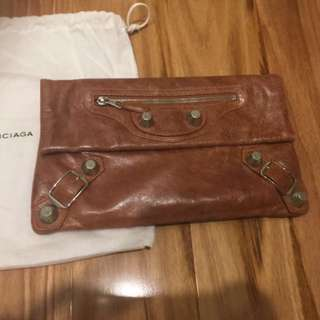 Authentic Balenciaga Envelope Clutch