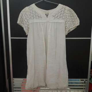 White Brukat Top