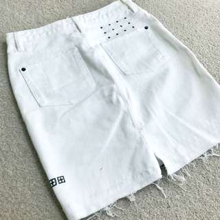 KSUBI Jeans - White Skirt