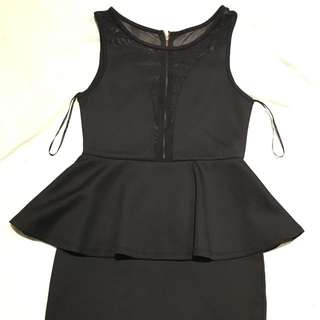 Black Peplum Dress