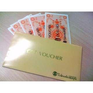 Takashimaya Vouchers $700
